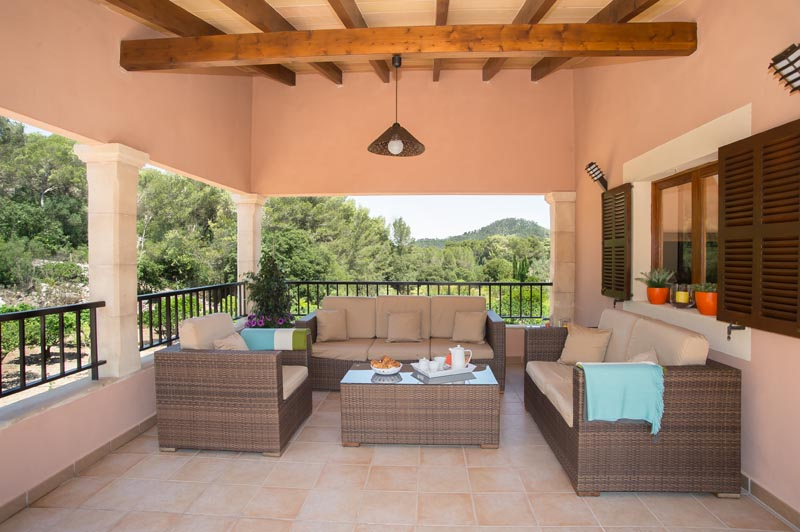 Terrassse Ferienhaus Mallorca Südosten PM 6065 für 8 Personen