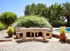 Garten 3 Finca Mallorca Südosten mit Pool und Tennisplatz PM 6074