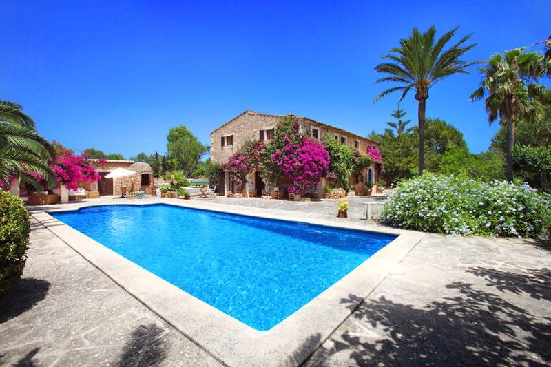 Pool und Finca 4 Mallorca Südosten mit Tennisplatz PM 6074