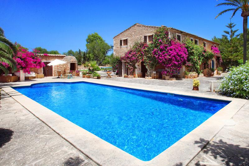 Pool und Finca Mallorca Südosten mit Tennisplatz PM 6074