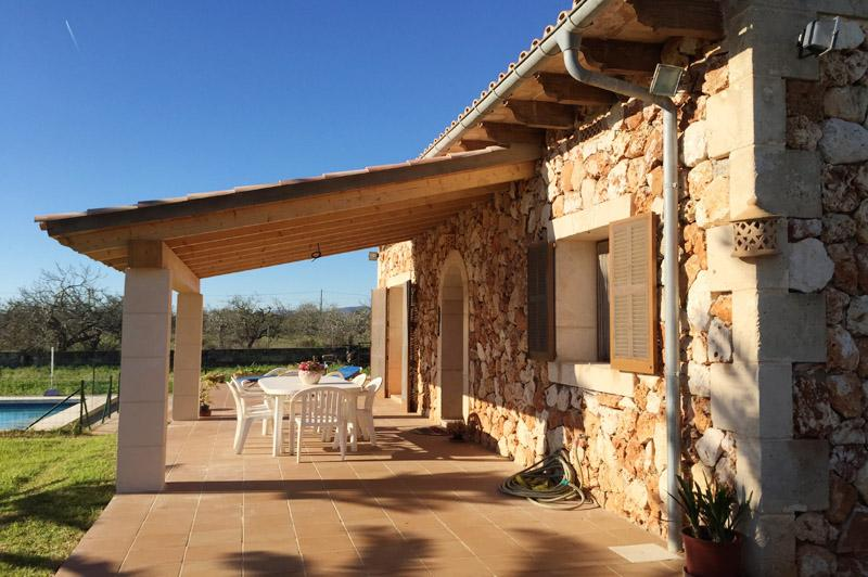 Überdacht Terrasse Finca Mallorca Ostküste PM 6343 für 6 - 7 Personen