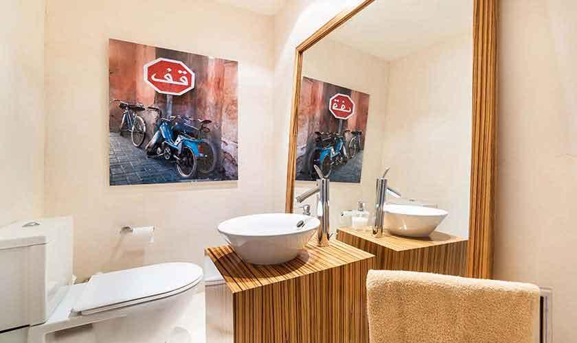 Badezimmer Poolvilla Mallorca 10 Personen PM 6510