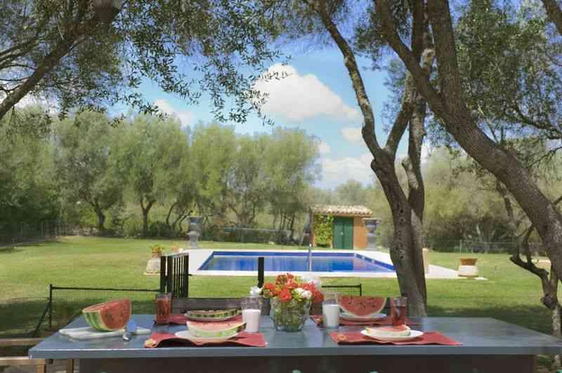 Poolblick und Terrasse Finca Mallorca Süden PM 6542