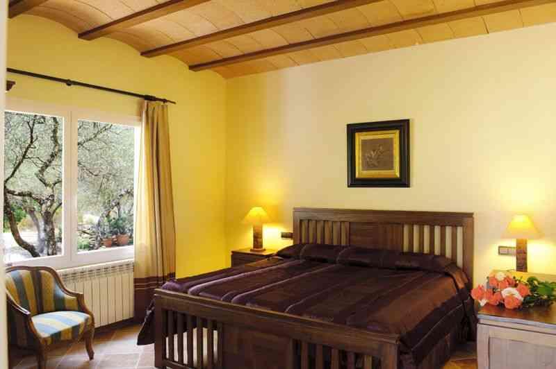 Schlafzimmer Ferienfinca Mallorca Süden PM 6542