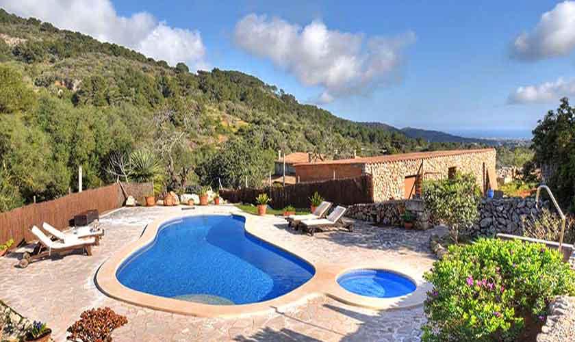 Pool und Terrasse Finca Mallorca 8 Personen PM 6564