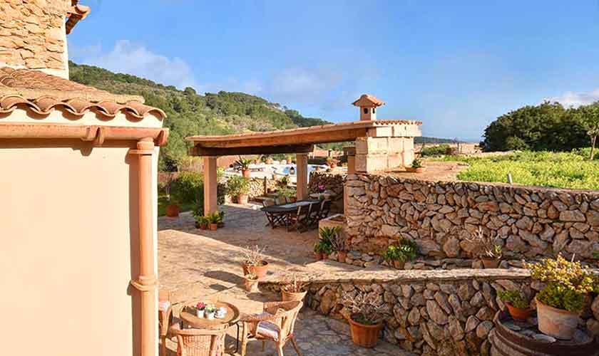 Blick auf die Finca Mallorca 8 Personen PM 6564