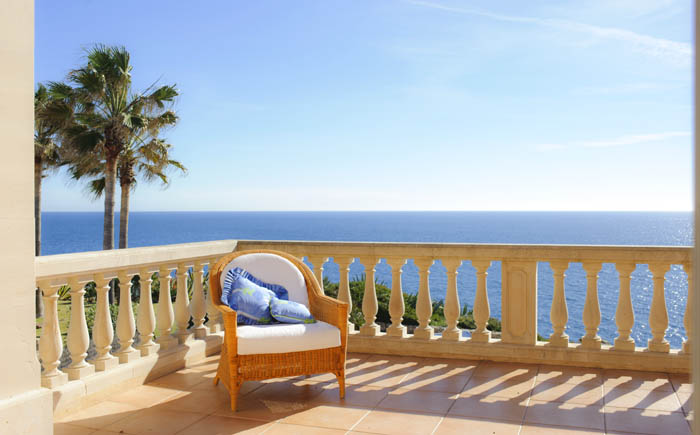 Meerblick Terrasse oben Ferienhaus Mallorca Südosten PM 6575