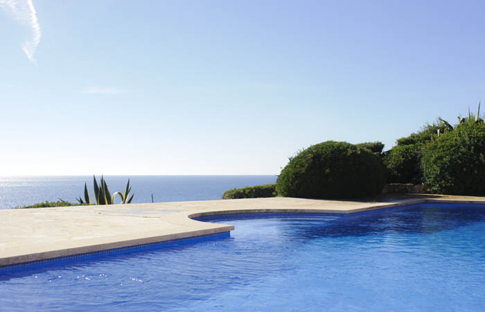 Meerblick und Pool Ferienhaus Mallorca Porto Petro PM 6575