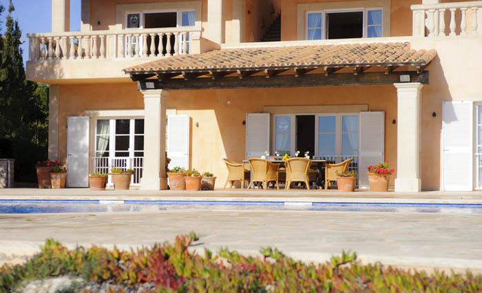 Terrasse Ferienhaus Mallorca Pool Meerblick PM 6575