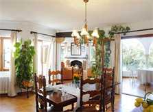 Essplatz Ferienhaus Mallorca Südosten mit Pool und Meerblick für 8 Personen PM 6576