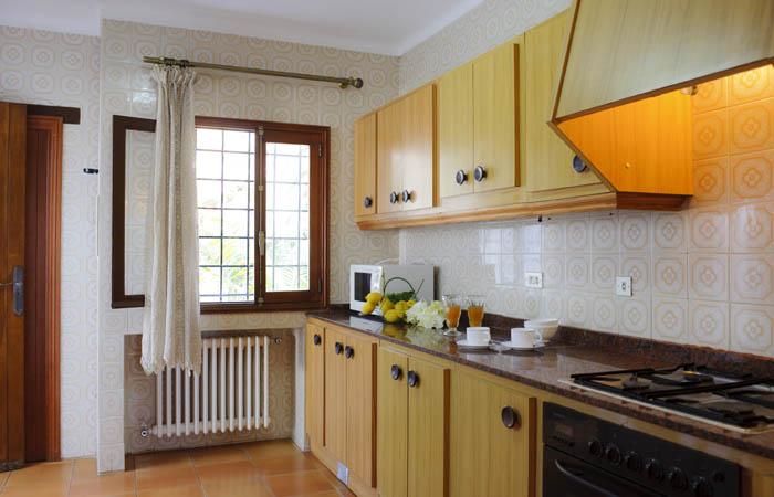 Küche Ferienhaus Mallorca Südosten mit Pool und Meerblick für 8 Personen PM 6576
