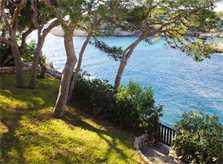 Meereszugang vom Ferienhaus Mallorca Südosten mit Pool und Meerblick für 8 Personen PM 6576