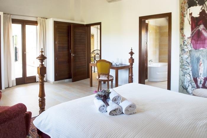 Schlafzimmer 2 b Finca Mallorca mit Pool PM 6579 für 10 Personen