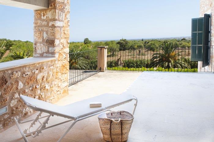Terrasse Schlafzimmer Finca Mallorca mit Pool PM 6579 für 10 Personen