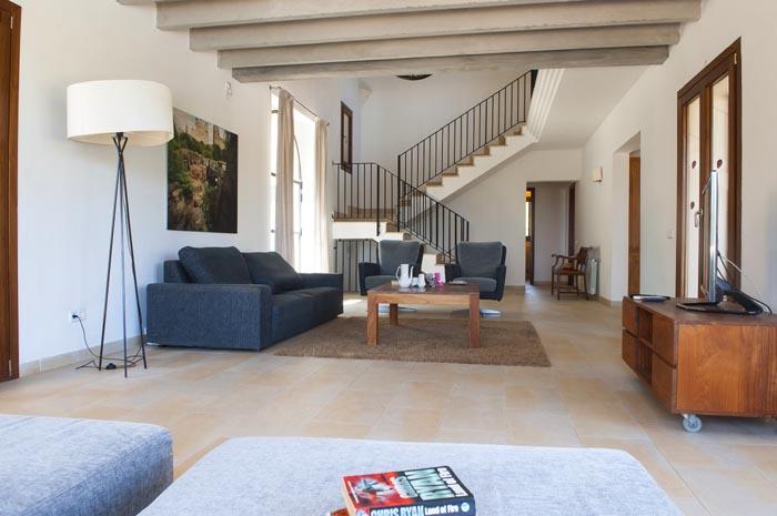 Wohnraum Finca Mallorca mit Pool PM 6579 für 10 Personen