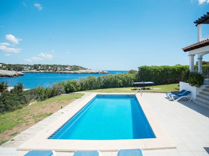 Poolblick Ferienhaus Mallorca Südosten direkt am Meer PM 6581