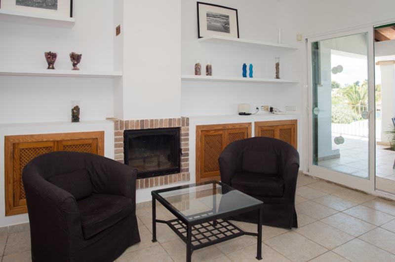 Wohnraum Poolvilla Mallorca Meerblick 8 Personen PM 6581