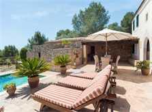 Terrasse der Ferienfinca Mallorca Südosten PM 6583