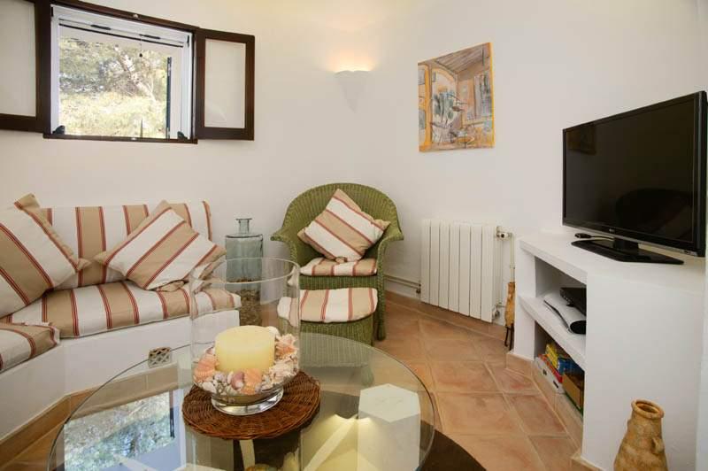 Wohnraum Ferienhaus Mallorca mit Pool im Südosten PM 6583