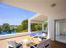 Terrasse mit Meerblick Ferienvilla Mallorca für 12 Personen PM 6584