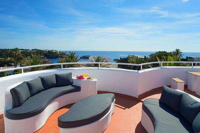 Dachterrasse Ferienhaus Mallorca Südosten für 12 Personen PM 6587