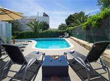 Pool und Liegen Ferienhaus Mallorca Südosten für 12 Personen PM 6587