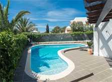 Poolblick Ferienhaus Mallorca Südosten für 12 Personen PM 6587