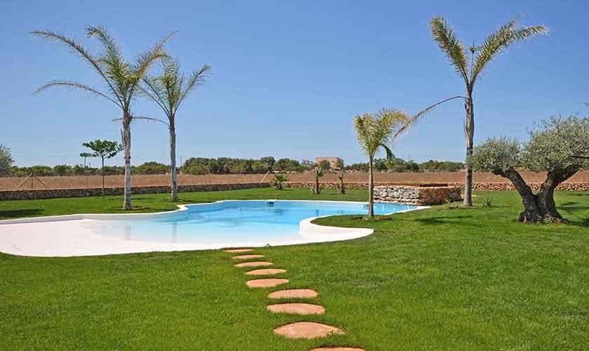 Poolblick Finca Mallorca Süden PM 6930